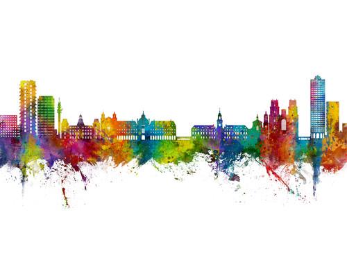 Rennes France Skyline Cityscape Poster Art Print