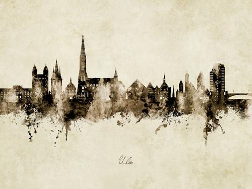 Ulm Deutschland Skyline Cityscape Poster Art Print