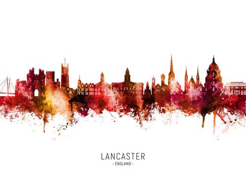 Lancaster England Skyline Cityscape Poster Art Print