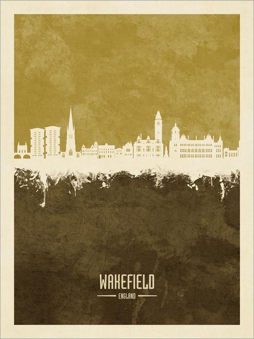 Wakefield England Skyline Cityscape Poster Art Print