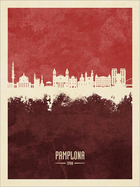 Pamplona Spain Skyline Cityscape Poster Art Print