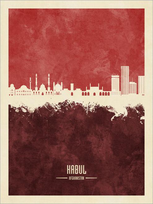 Kabul Afghanistan Skyline Cityscape Poster Art Print