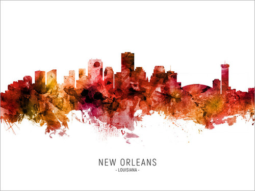 New Orleans Louisiana Skyline Cityscape Poster Art Print