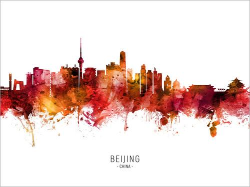 Beijing China Skyline Cityscape Poster Art Print