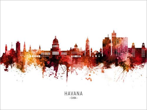 Havana Cuba Skyline Cityscape Poster Art Print