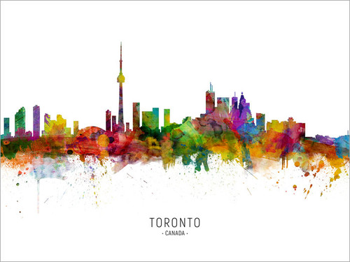 Toronto Canada Skyline Cityscape Poster Art Print