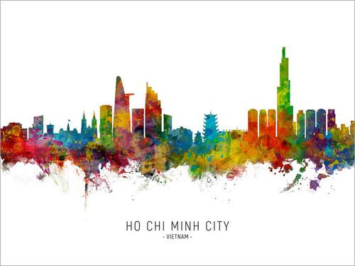 Ho Chi Minh City Vietnam Skyline Cityscape Poster Art Print