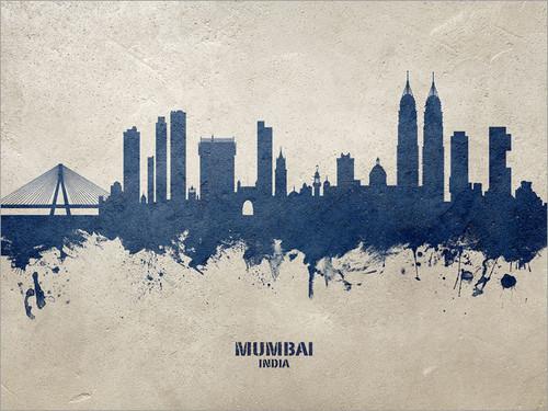 Mumbai India Skyline Cityscape Poster Art Print