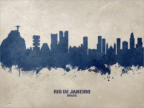 Rio de Janeiro Brazil Skyline Cityscape Poster Art Print
