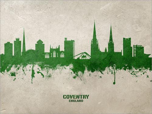 Coventry England Skyline Cityscape Poster Art Print