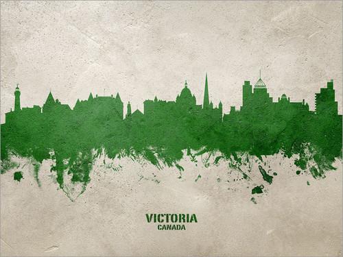 Victoria Canada Skyline Cityscape Poster Art Print