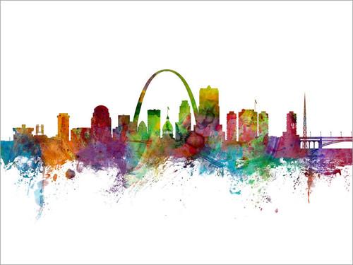 St Louis Missouri Skyline Cityscape Poster Art Print