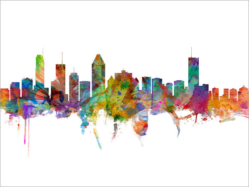 Montreal Canada Skyline Cityscape Poster Art Print