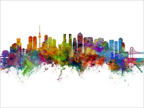 Tokyo Japan Skyline Cityscape Poster Art Print