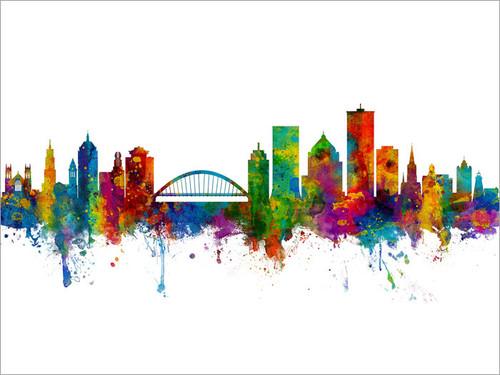 Rochester New York Skyline Cityscape Poster
