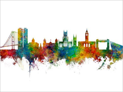 Kingston upon Hull England Skyline Cityscape Poster Art Print