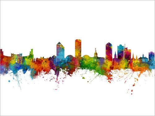 Tallahassee Florida Skyline Cityscape Poster Art Print
