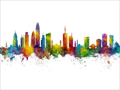 Nairobi Kenya Skyline Cityscape Poster Art Print