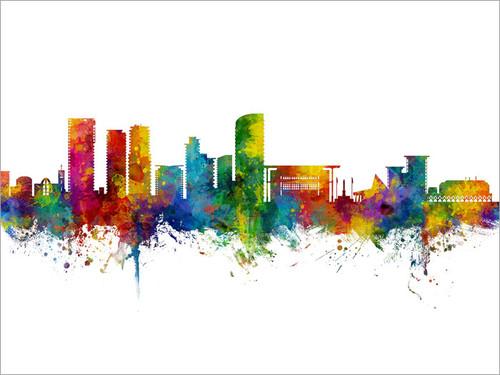Darwin Australia Skyline Cityscape Poster Art Print