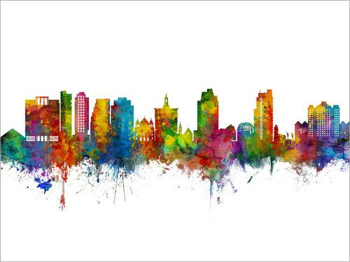 San Jose California Skyline Cityscape Poster Art Print