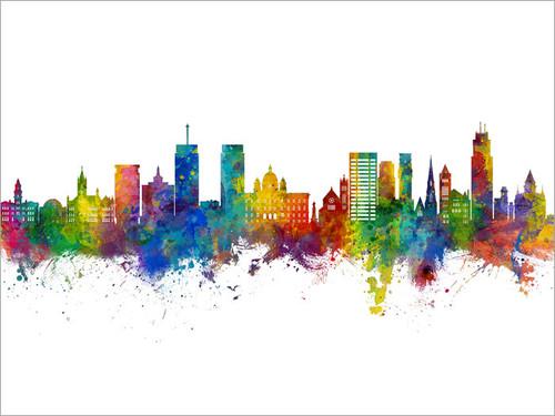 Syracuse New York Skyline Cityscape Poster Art Print