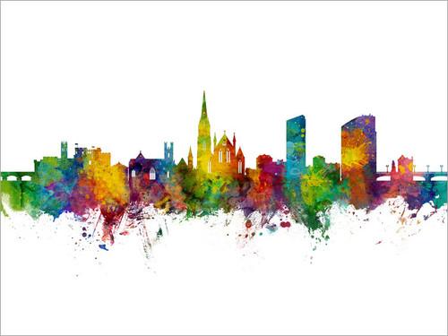 Limerick Ireland Skyline Cityscape Poster Art Print