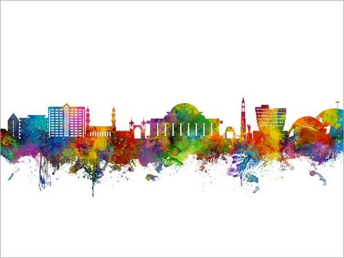 Lilongwe Malawi Skyline Cityscape Poster Art Print