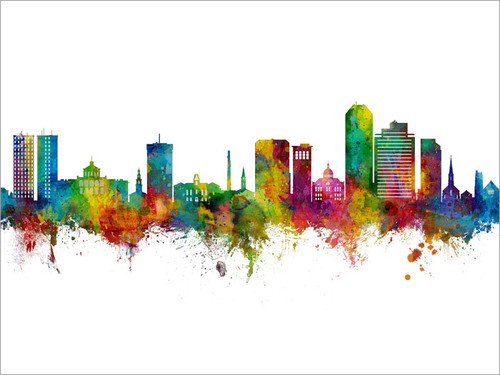 Lexington Kentucky Skyline Cityscape Poster Art Print