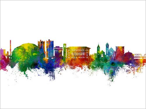 Cedar Falls Iowa Skyline Cityscape Poster Art Print