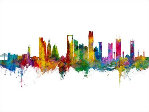 Riyadh Saudi Arabia Skyline Cityscape Poster Art Print