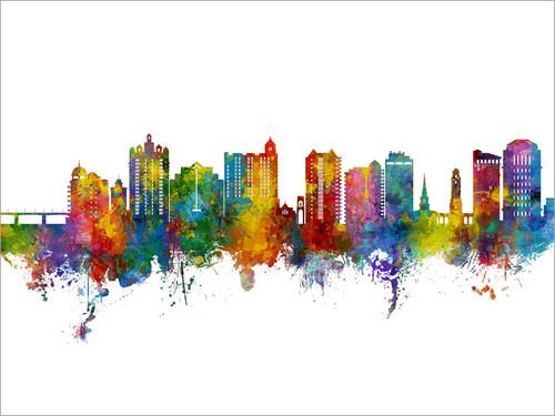 Sarasota Florida Skyline Cityscape Poster Art Print