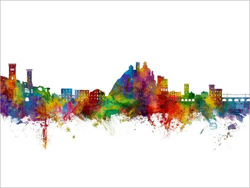Monterosso al Mare Italy Skyline Cityscape Poster Art Print
