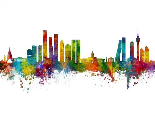 Colombo Sri Lanka Skyline Cityscape Poster Art Print