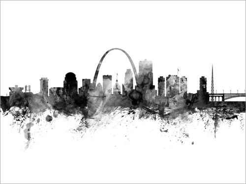 St Louis Missouri Skyline Cityscape Poster