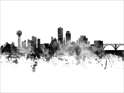 Knoxville Tennessee Skyline Cityscape Poster Art Print