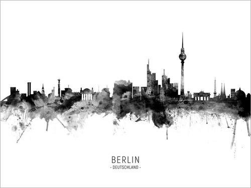 Berlin Germany Skyline Cityscape Poster Art Print