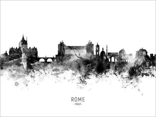 Rome Italy Skyline Cityscape Poster Art Print