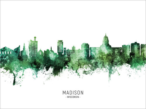 Madison Wisconsin Skyline Cityscape Poster Art Print