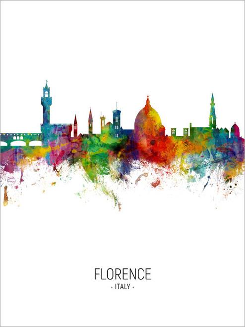 Florence Italy Skyline Cityscape Poster Art Print