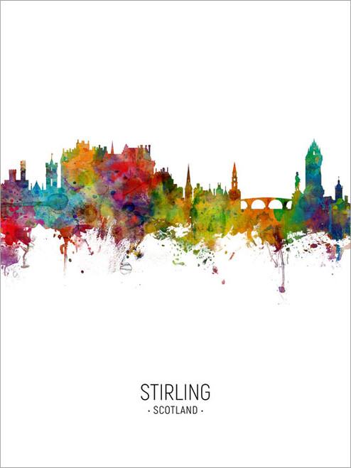 Stirling Scotland Skyline Cityscape Poster Art Print