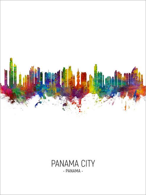 Panama City Panama Skyline Cityscape Poster Art Print