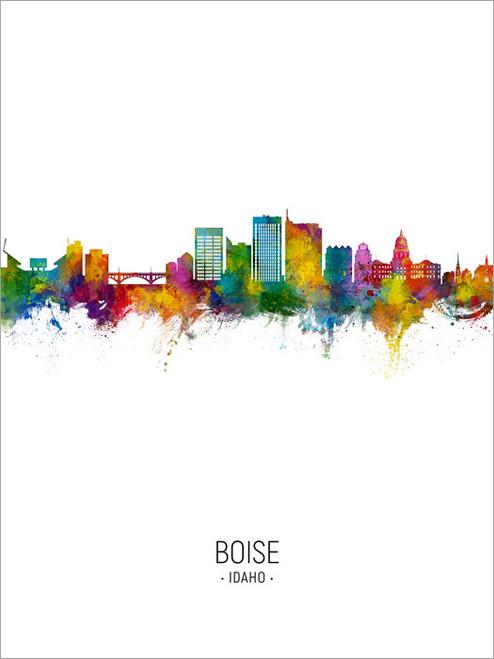 Boise Idaho Skyline Cityscape Poster Art Print