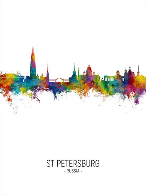 St Petersburg Russia Skyline Cityscape Poster Art Print