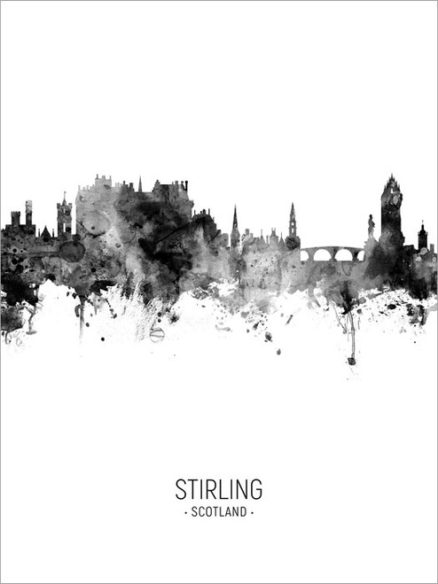 Stirling Scotland Skyline Cityscape Poster Art Print