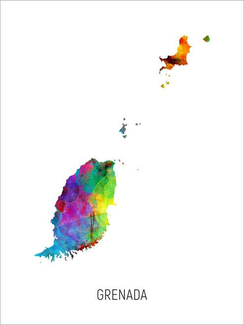 Grenada Map Poster Art Print