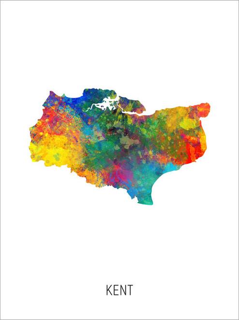 Kent Map Poster Art Print