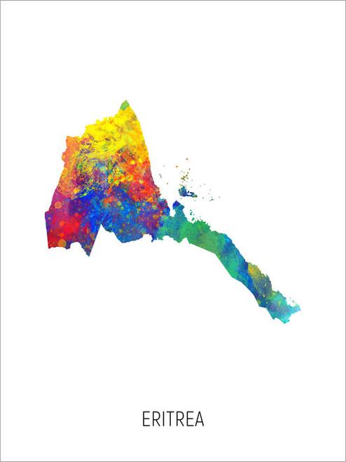 Eritrea Map Poster Art Print
