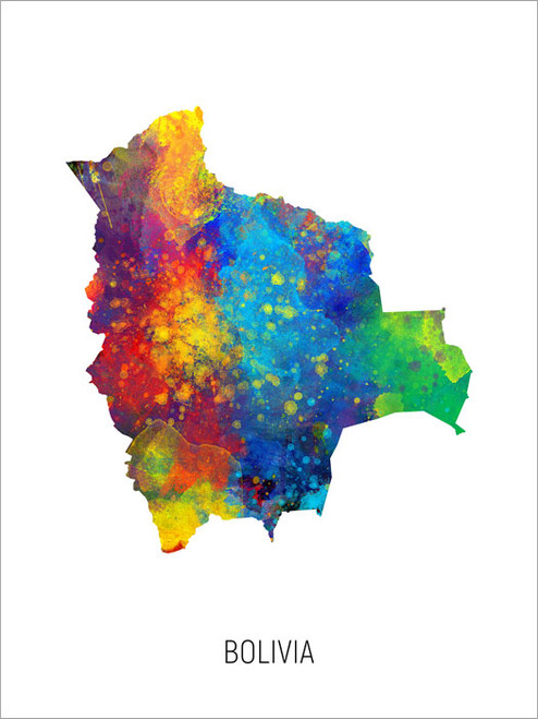 Bolivia Map Poster Art Print