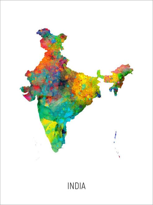 India Map Poster Art Print