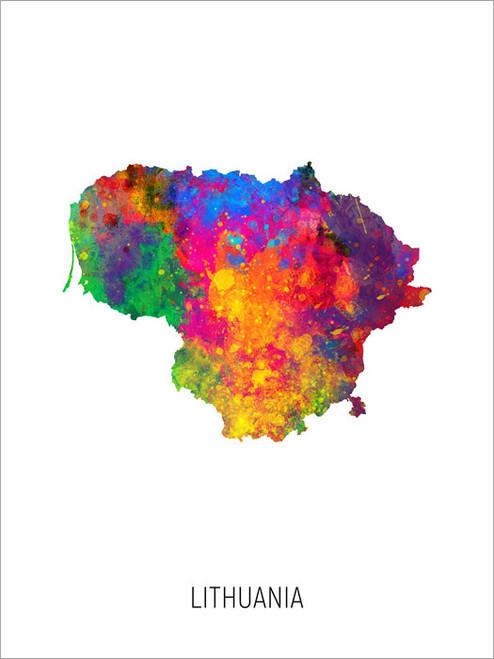 Lithuania Map Poster Art Print